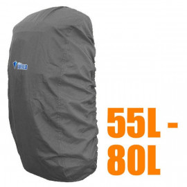 BlueField Backpack Rain Cover 55L to 80L GRAY (Large)