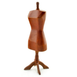 Walnut Store Fashion Clothes Stand Dollhouse Miniature