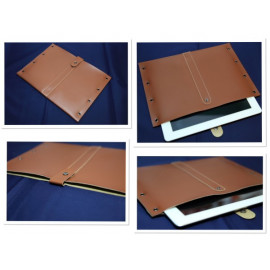 iPad Leather Case for iPad 2 / Tablet - three colors (white, brown, black)