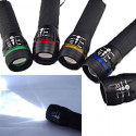 3W LED 3 Mode Zoomable Flashlight Torch (BLACK)
