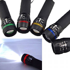 3W LED 3 Mode Zoomable Flashlight Torch (RED)