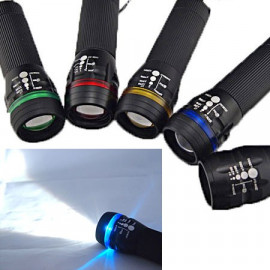 3W LED 3 Mode Zoomable Flashlight Torch (BLUE)
