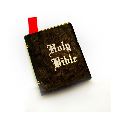 Religion Christian Holy Bible Book Dollhouse Miniature