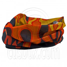 Black Orange Flame Cycling Hiking Bandana Bandanna Scarf