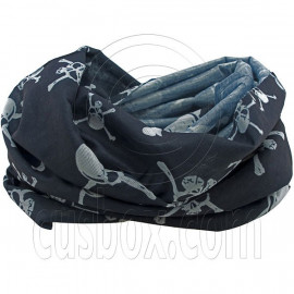 Black Pirate Skeleton Bones Cycling Hiking Bandana Bandanna Scarf