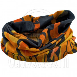 Black Orange Flame N2 Cycling Hiking Bandana Bandanna Scarf