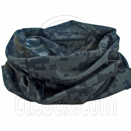 Black Gray Digit Camo Cycling Hiking Bandana Bandanna Scarf