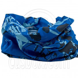 Blue Black Outdoor Activity Cycling Hiking Bandana Bandanna Scarf