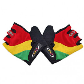Gel Padded Palm Half Finger Cycling Bike Gloves MULTI-COLOR