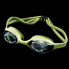 Swimming Kids Goggles with Box OLIVE GREEN