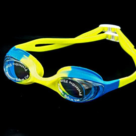 Swimming Kids Goggles with Box BLUE YELLOW