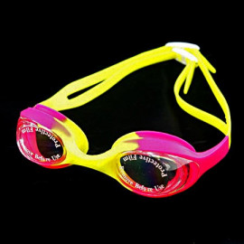 Swimming Kids Goggles with Box PINK YELLOW