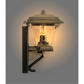Black Cast Iron 12V Wall Lamp Light Dollhouse Miniature