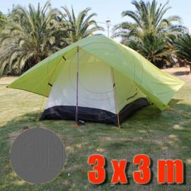 Tarp Tarpaulin Tent Shelter Heavy Duty L (GRAY)