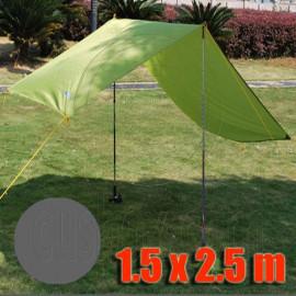 Tarp Tarpaulin Tent Shelter Heavy Duty S (GRAY)