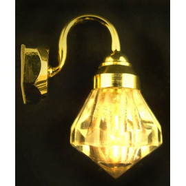 Victorian Gold 12V Wall Lamp Light Dollhouse Miniature