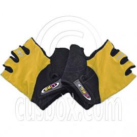 Gel Padded Palm Half Finger Cycling Bike Gloves YELLOW