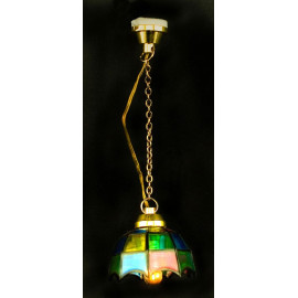 Stained Glass Long 12V Ceiling Lamp Dollhouse Miniature