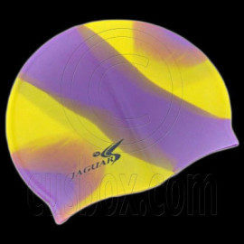 Silicone Swim Cap (PURPLE YELLOW)