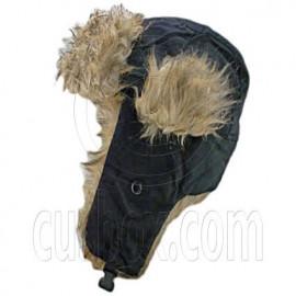 Faux Fur Winter Trapper Ushanka Hat with EarFlap BLACK