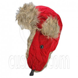 Faux Fur Winter Trapper Ushanka Hat with EarFlap RED