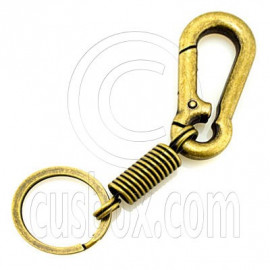 Strong Alloy Pear Shaped Carabiner Keyring Bronze A
