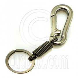 Strong Alloy Pear Shaped Carabiner Keyring Silver B
