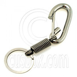 Strong Iron D Shaped Carabiner Keyring Silver B