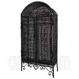Black Wire Cabinet Storage Unit Armoire 1:12 Doll's House Dollhouse Furniture