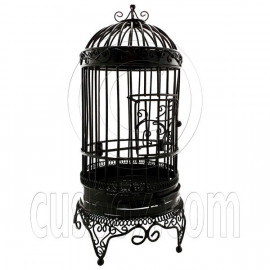 Black Wire Birdcage Bird's Cage Jewelry Display Home Decor Dollhouse Furniture