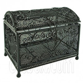 Black Wire New Deluxe Jewellery Chest Box 1:12 Doll's House Dollhouse Miniature