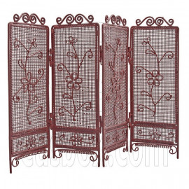 Pink Wire Living Folding Screen Divider 1:12 Doll's House Dollhouse Furniture