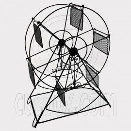 Black Wire Observation Ferris Big Wheel Jewelry Display Necklace Pendant Holder