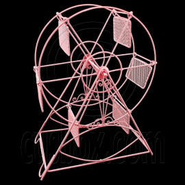 Pink Wire Observation Ferris Big Wheel Jewelry Display Necklace Pendant Holder