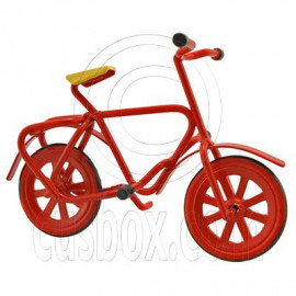 Red Iron Cycling Bicycle Bike 1:12 Doll's House Dollhouse Miniature