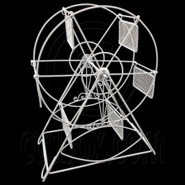 White Wire Observation Ferris Big Wheel Jewelry Display Necklace Pendant Holder