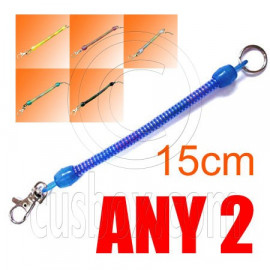 2x Plain Extentable Strap 15cm Keychain (BLACK / BLUE / GREEN / WHITE / RED / YELLOW)