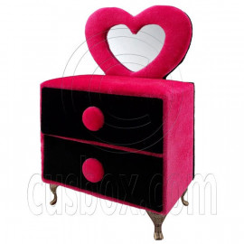Black Pink Vanity Jewelry Box 1:6 for Blythe Doll's House Dollhouse Furniture