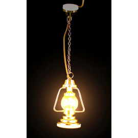 Gold Oil Long 9V 12V Ceiling Lamp Dollhouse Miniature