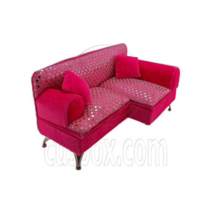 Beads Chaise Longue Long Sofa Jewelry Box 1 6 Barbie Doll s House
