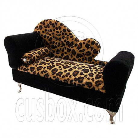 Exceptional Cheetah Chaise Longue Sofa Chair Bed Jewelry Box 1:6 Barbie Dollhouse  Furniture