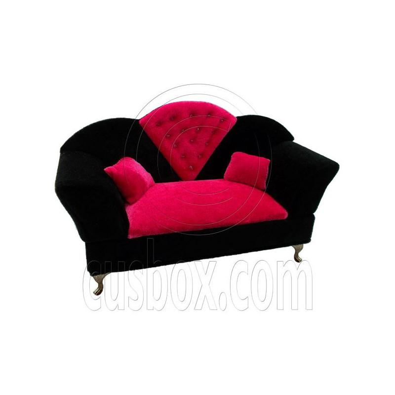Black Pink Long Sofa Jewelry Box 16 for Barbie Dolls  : black pink long sofa jewelry box 1 6 for barbie doll s house dollhouse furniture from www.cusbox.com size 800 x 800 jpeg 46kB