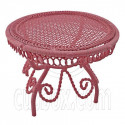 Pink Wire Queen Ann Round Cafe Tea Table 1:12 Doll's House Dollhouse Furniture