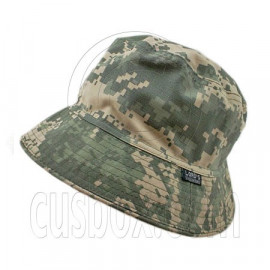 Reversible Outdoor Camo Bucket Hat (Light Brown Green Desert / Khaki)