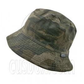 Reversible Outdoor Camo Bucket Hat (Green Desert with Pattern / Khaki)