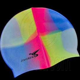 Silicone Swim Cap (PINK BLUE YELLOW GRAY MULTI-COLOR)
