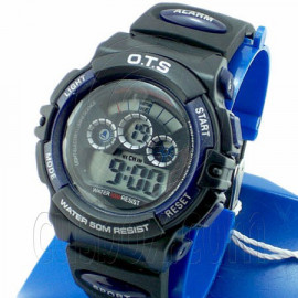 Digital Sports Ladies' Kids' Watch (833) (BLUE & BLACK)