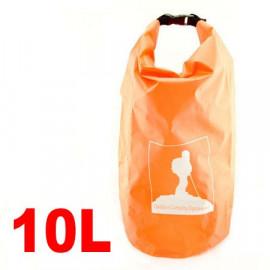 10L Waterproof Outdoor Dry Bag (ORANGE)