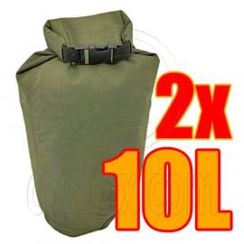 2x 10L Waterproof Dry Bag & 1x 8cm carabiner