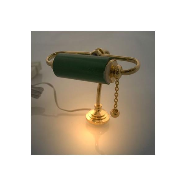 ... Lamps & Accessories > 9V 12V Brass Banker Desk Lamp Light Dollhouse